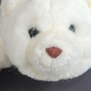 "Gund Baby Polar Bear 7"" Plush Stuffed Beanbag Toy White Brown Nose Vintage 1980"