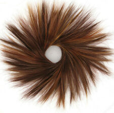 chouchou chignon cheveux châtain cuivré méché blond clair et rouge ref 21 33h130