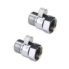 "2 PCS G1/2"" Flow Quick Control Shut OFF Valve For Shower Head Hand  Water Saver"