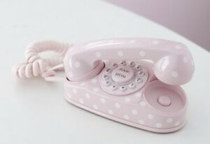 Perfect Condition Pottery Barn Kids Mini Phone Pink White Small Real Working