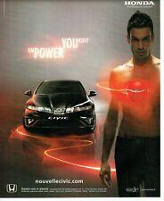Publicité Advertising 079  2006  nouvelle Honda Civic  2.2 cdti