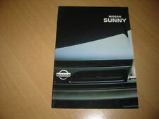 CATALOGUE Nissan Sunny de 1990