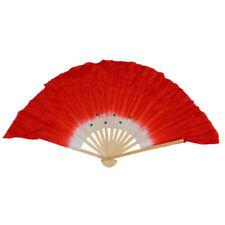 Chino folk bailar mano ventilador rojo blanco H1O9