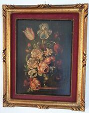 FIAMMINGO Fiori olio su tela incollata faesite XIX XVIII XVII secolo 800 700 600