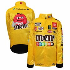 Kyle Busch Youth Full Snap Pit Jacket - Yellow