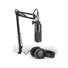 Audio-Technica AT2020 Stream/Podcast XLR Studio Mic Pack w/ Boom & ATH-M20X