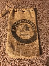 Small Burlap Bag - Metzger Popcorn - Delphos Ohio