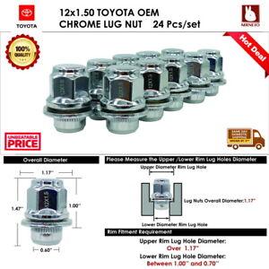 24 PC TOYOTA SEQUOIA/SIENNA/TACOMA  12X1.5 CHROME MAG LUG NUT FIT STOCK WHEEL