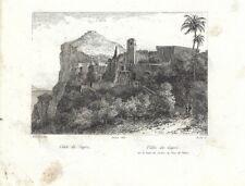 CAPRI Veduta Ischia e Procida da Villa Jovis,Golfo di Napoli.Stampa Antica.1880