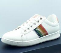 Baskets Tennis Chaussure Femme 36 37 38 39 40 41 Blanche Sport Multicolore Blanc