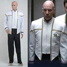 Star Trek Insurrection Nemesis Mess Dress Uniform White Cosplay Costume Full Set