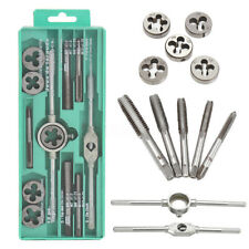 12pcs Professional Metric Tap And Die Set High Carbon Steel Wrench Case Tools