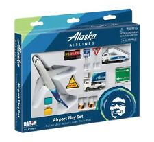 Alaska Airlines B737 Die Cast Playset 12pc Set  Airliner Airplane New In Box