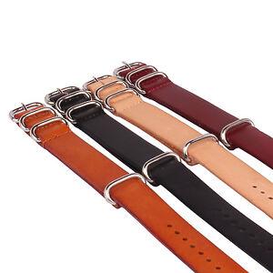 Brown Black Watch Genuine Leather Watchband Strap Wrist Band 18mm 20mm 22mm 24mm