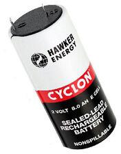 1 x Hawker Cyclon 8.0-2 plomo batería pb/2 V/8 ah/faston 6,3 mm