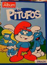 album Smurfs los pitufos + 4 envelopes stickers  Chile