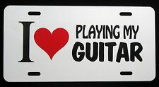 GUITAR License Plate - LOT of 15 Plates, I LOVE PLAYING MY GUITAR,  New, Novelty