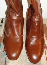 NEW Vintage Knee High Leather Women's Round Toe Zip Boot Sz. 6M WOW!