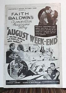 AUGUST WEEKEND 1936,  Valerie Hobson, Paul Harvey, G.P. Huntley