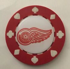 Detroit Red Wings Poker CHIP CARD GUARD WSOP, Poker Weight NHL Poker Chip