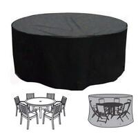 ROUND PATIO SET COVER OUTDOOR GARDEN WATERPROOF WINTER TABLE CHAIRS PROTECTION