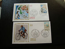FRANCE -  2 enveloppes 1er jour 1972 (jour timbre/crozet kerguelen) (cy47)french
