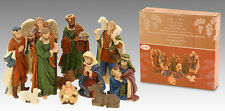 11 Piece Traditional Resin Small Christmas Nativity Figurine Scene Display Set