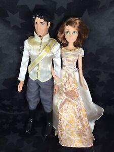 Disney Store Dolls - Wedding Day Flynn Rider & Short-haired Rapunzel
