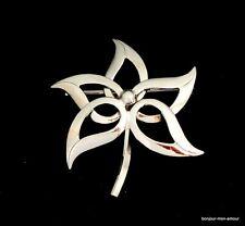VERITABLE en argent Fleurs de broche, Floral silver brooch, broche, Spilla