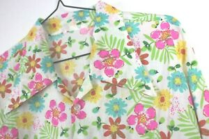 Vtg Mens 70s Style Ditsy Floral Hippie Psychedelic Crazy Festival Beach Shirt M