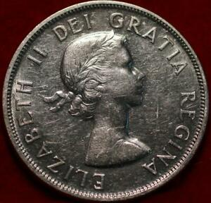 Uncirculated 1958 Canada Silver One Dollar Foreign Coin