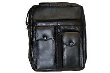MEN'S ORGANIZER SHOULDER BAG  WITH 6 ZIPPER POCKET AND 2 SNAP POCKETS NEW  BLACK