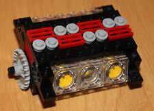 LEGO Technik Motor V6 Zylinder transparent komplett montiert für Auto + Truck