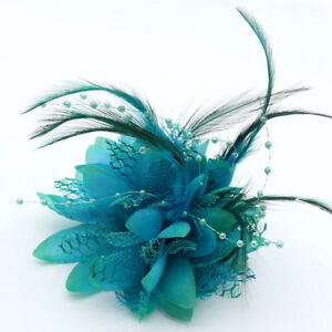 Silk Rose Hair Accessories Hairpin Corsage Wrist Brooch Bracelet Prom Wedding