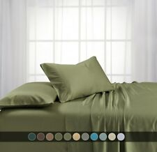 100% Viscose from Bamboo Bed Sheets Deep Pocket 600 Thread Count Soft and Cool