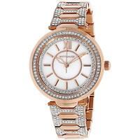 Wittnauer Women's Quartz Crystal Accents Rose Gold-Tone Bracelet Watch WN4025