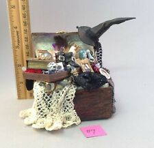 Dollhouse miniature 1/12th scale witches trunk  by Jan Smith #9