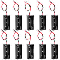 3V Battery Holder Case Storage Box 2 x 1.5V AAA Batteries Wire Leads 10pcs