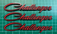 #0391 3pcs NEW CLASSIC Script DODGE CHALLENGER Emblem Badge Red Nameplate Fender