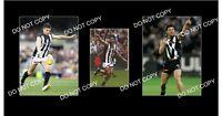 PAUL MEDHURST SIGNED COLLINGWOOD FC PHOTO +2 PHOTOS