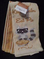 JCP HOME - Harvest Fall Autumn Pumpkin Pie Thanksgiving Set of 2 Kitchen Towels