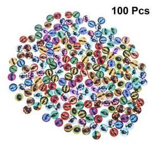 100pcs 10MM Multi Color DIY Dragon Eye Glass Crystal Cabochons Interchangeable S