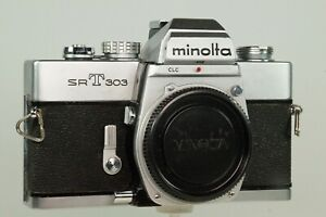 Vintage  Minolta SRT 303 Body, Owners Manual, Strap & Wein Cell G.W.O.