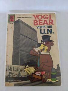 Vintage YOGI BEAR VISITS THE U.N. #1349 1962 Dell Four Color Comic Silver Age