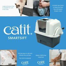Catit SmartSift Litter Box Cat Pan Sifting Automatic Scoop Clumping Tan