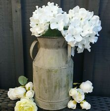 Vintage Style Zinc Distressed Metal Churn Planter Flower Pot Bucket Vase Table