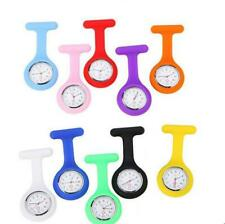 Silicone fob Quartz Nurse Fob Watches Clip On Brooch Tunic Hanging pin Watch