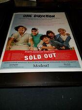 One Direction 2012 North American Tour Rare Original Promo Poster Ad Framed!