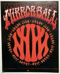 NEIL YOUNG 1995 Promo ADVERT MIRROR BALL Pearl Jam