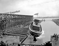 Historical 1900 Photograph of the Fire Boat James Battle Steamship Launch 8x10